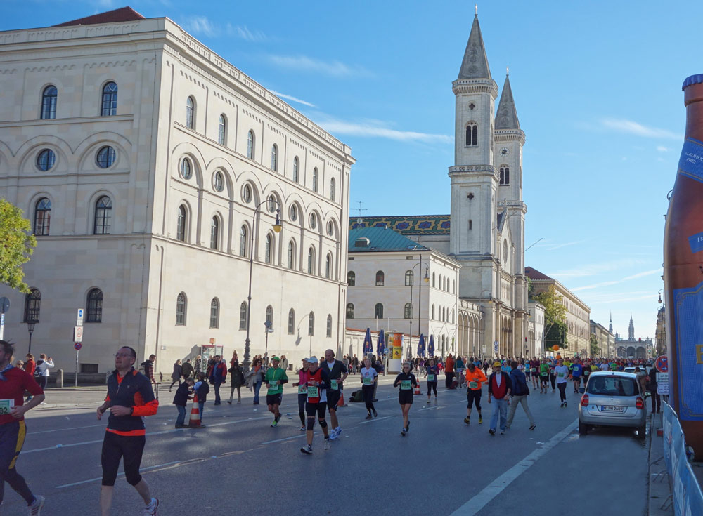 Marathon entlang der Ludwigstrasse