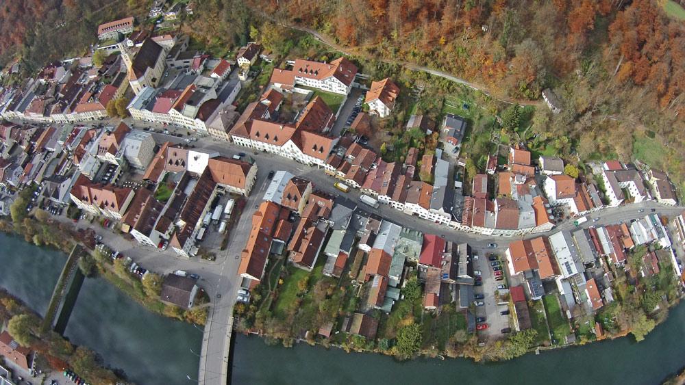 Wolfratshausen Altstadt von oben